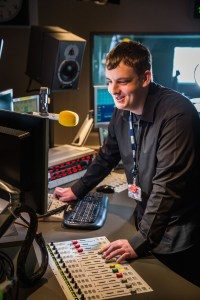 Picture of Stewart Campbell in editing suite